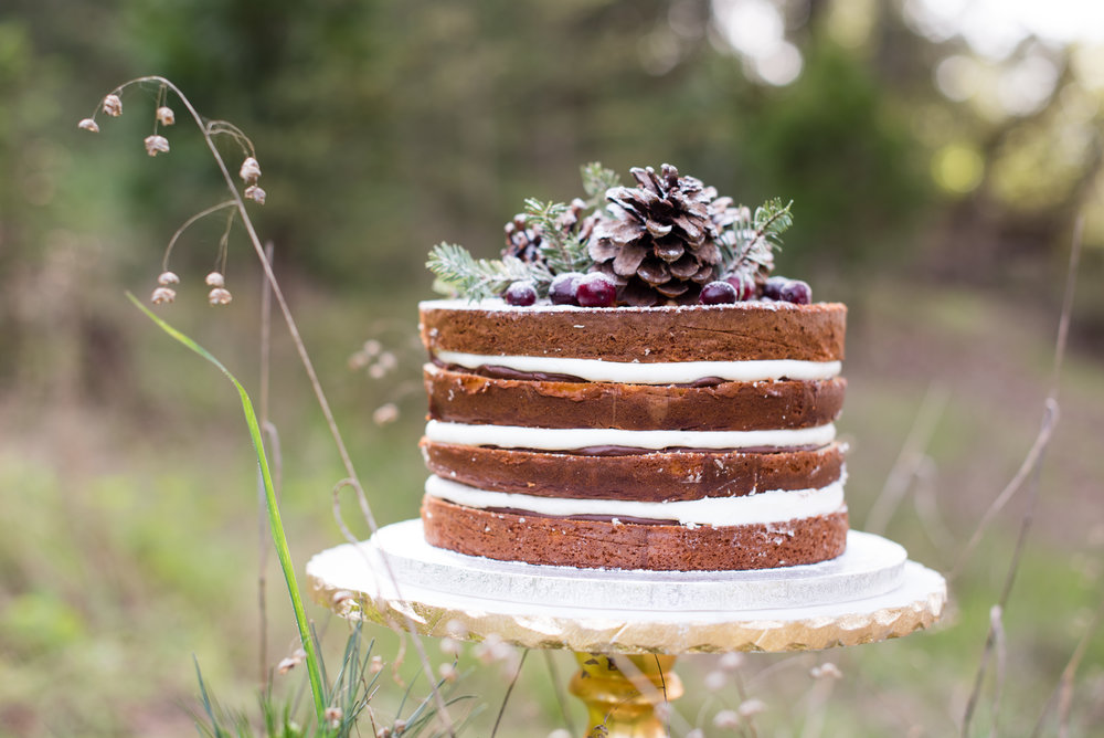 www.santabarbarawedding.com | Carrie Pollard | Church's Christmas Trees | Wedding Cake