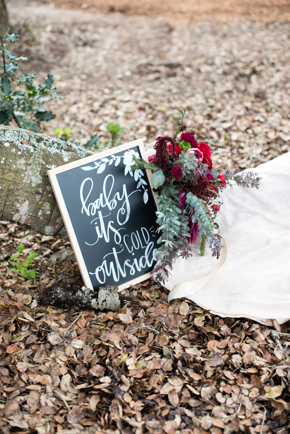 www.santabarbarawedding.com | Carrie Pollard | Church's Christmas Trees | Wedding Sign