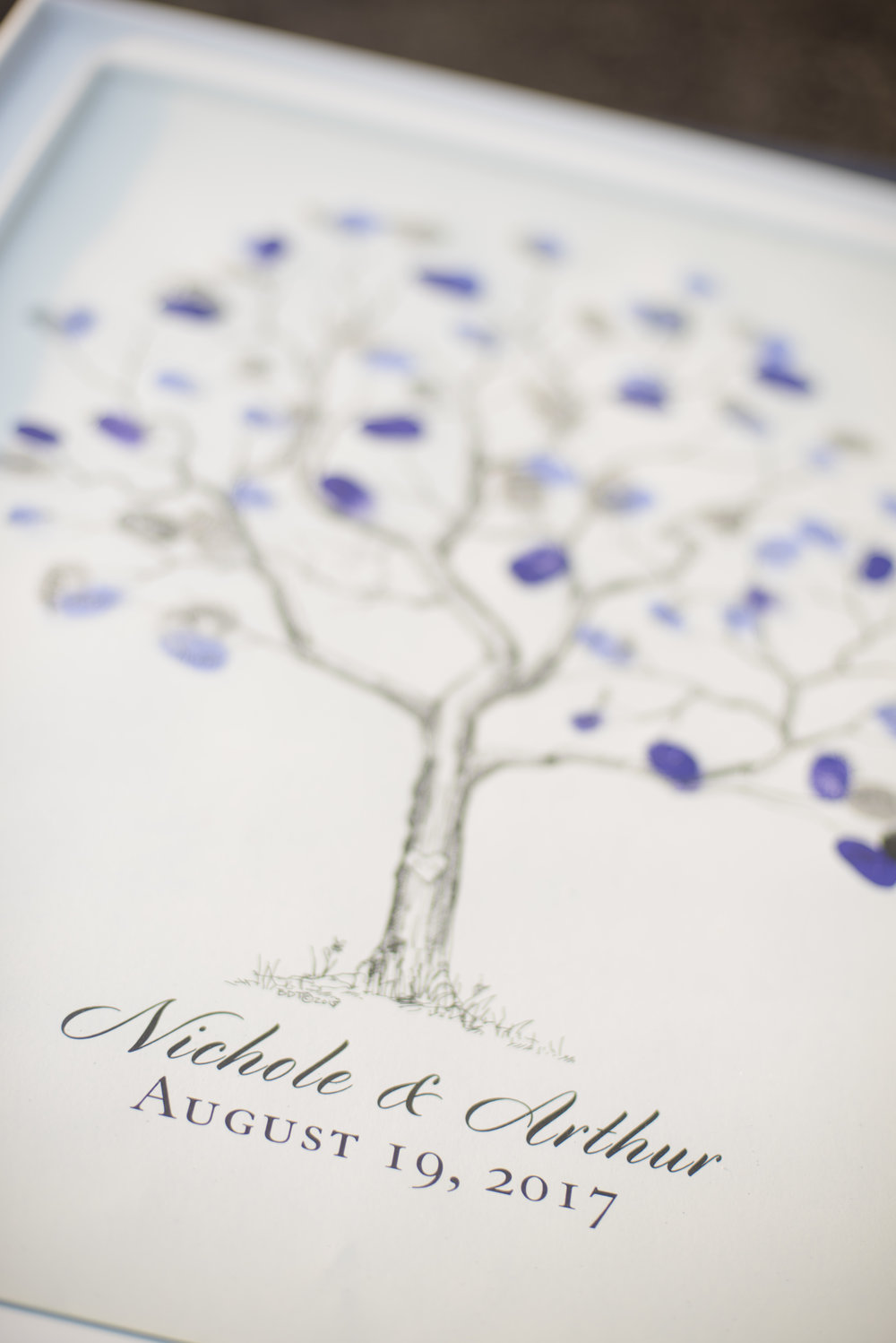 Santa Barbara Wedding Style | ByCherry Photography | Pantone Color of the Year | Ultraviolet | Guestbook