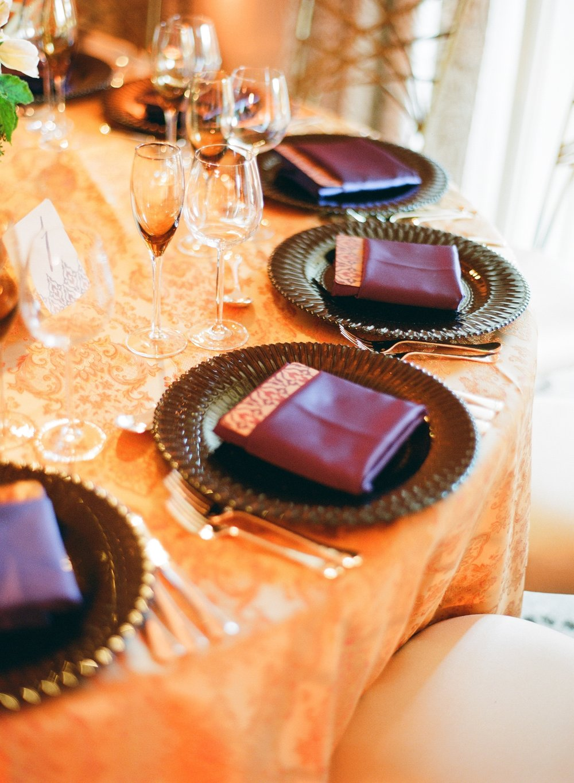 Santa Barbara Wedding Style | Jose Villa Photography | Magnolia Event Design | Pantone Color of the Year | Ultraviolet | Napkin | Decor
