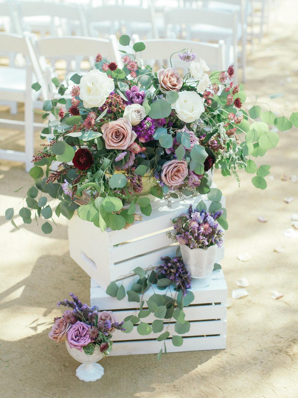www.SantaBarbaraWeddingStyle | Kiel Rucker Photography | Wedding Planner: Ann Johnson Events | Floral Design: Emma Rose Floral & Design | Ceremony Floral