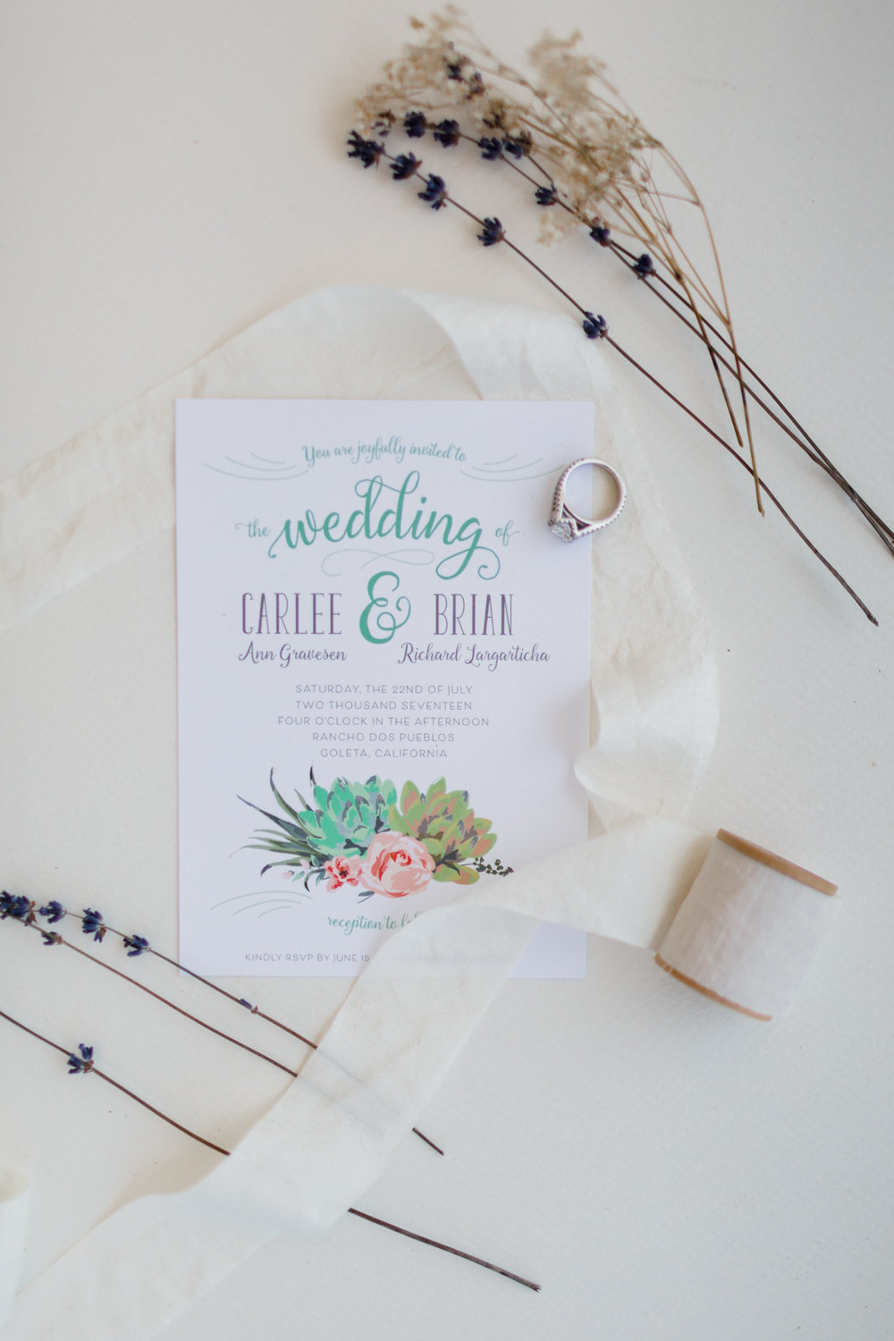 www.santabarbarawedding.com | Kaitie Brainerd Photo | Rancho Dos Pueblos | Wedding Invitations