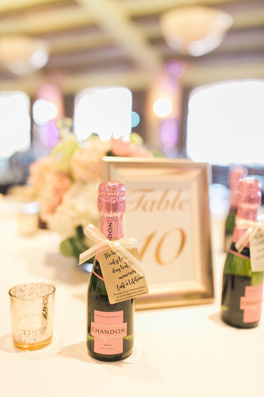 www.santabarbarawedding.com | Kelsey Crews | Fess Parker Doubletree | Wedding Favors | Champagne
