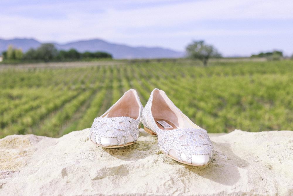 www.santabarbarawedding.com | Joseph Henry Photo | Sunstone Winery | Bride's Shoes
