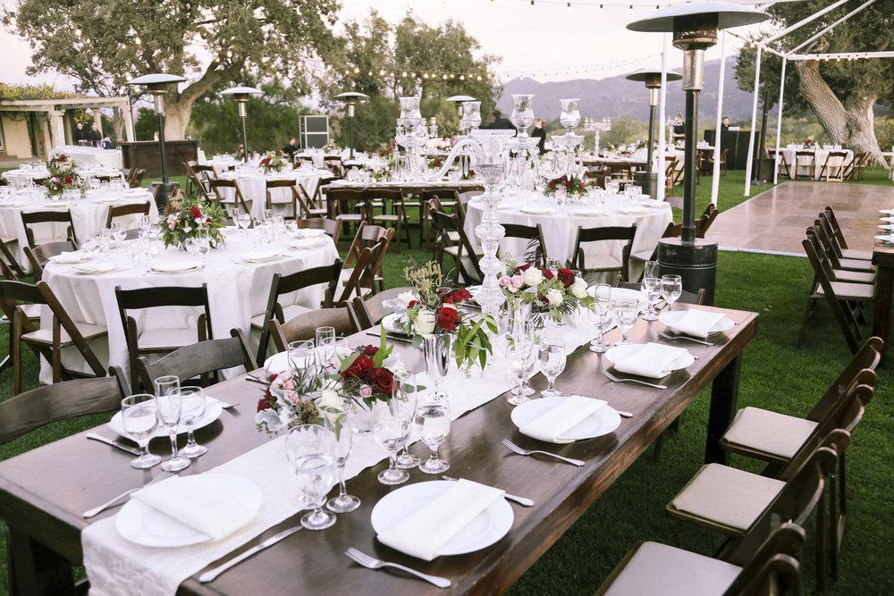 www.santabarbarawedding.com | Joseph Henry Photo | Sunstone Winery | Reception Tables