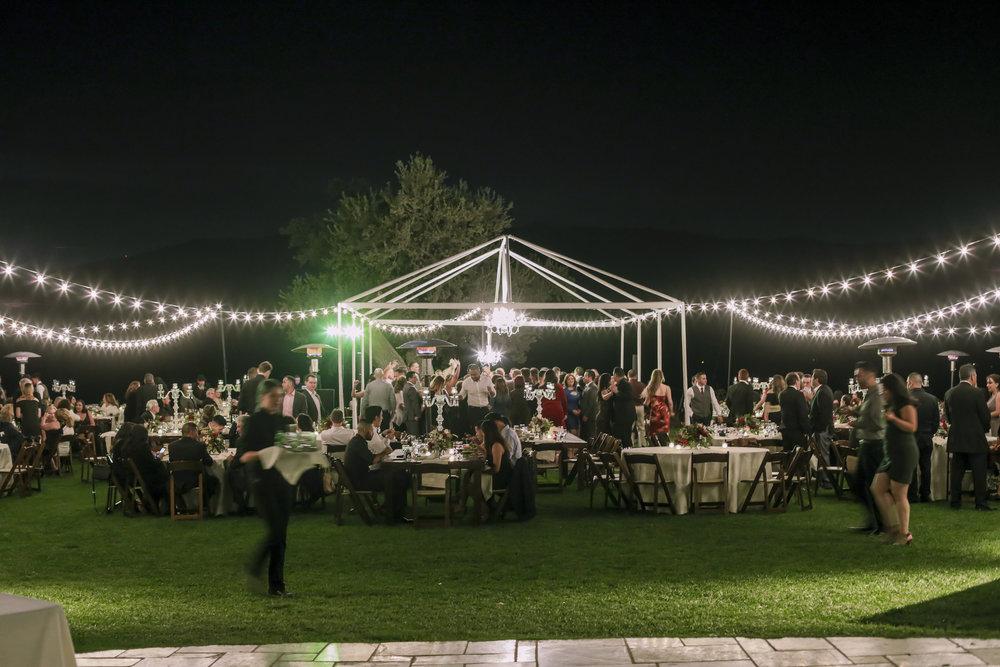 www.santabarbarawedding.com | Joseph Henry Photo | Sunstone Winery | Reception Lighting