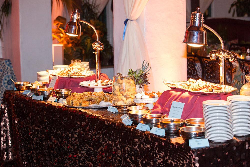 www.santabarbarawedding.com | Felici Events | Melissa Musgrove | El Paseo | Reception Food
