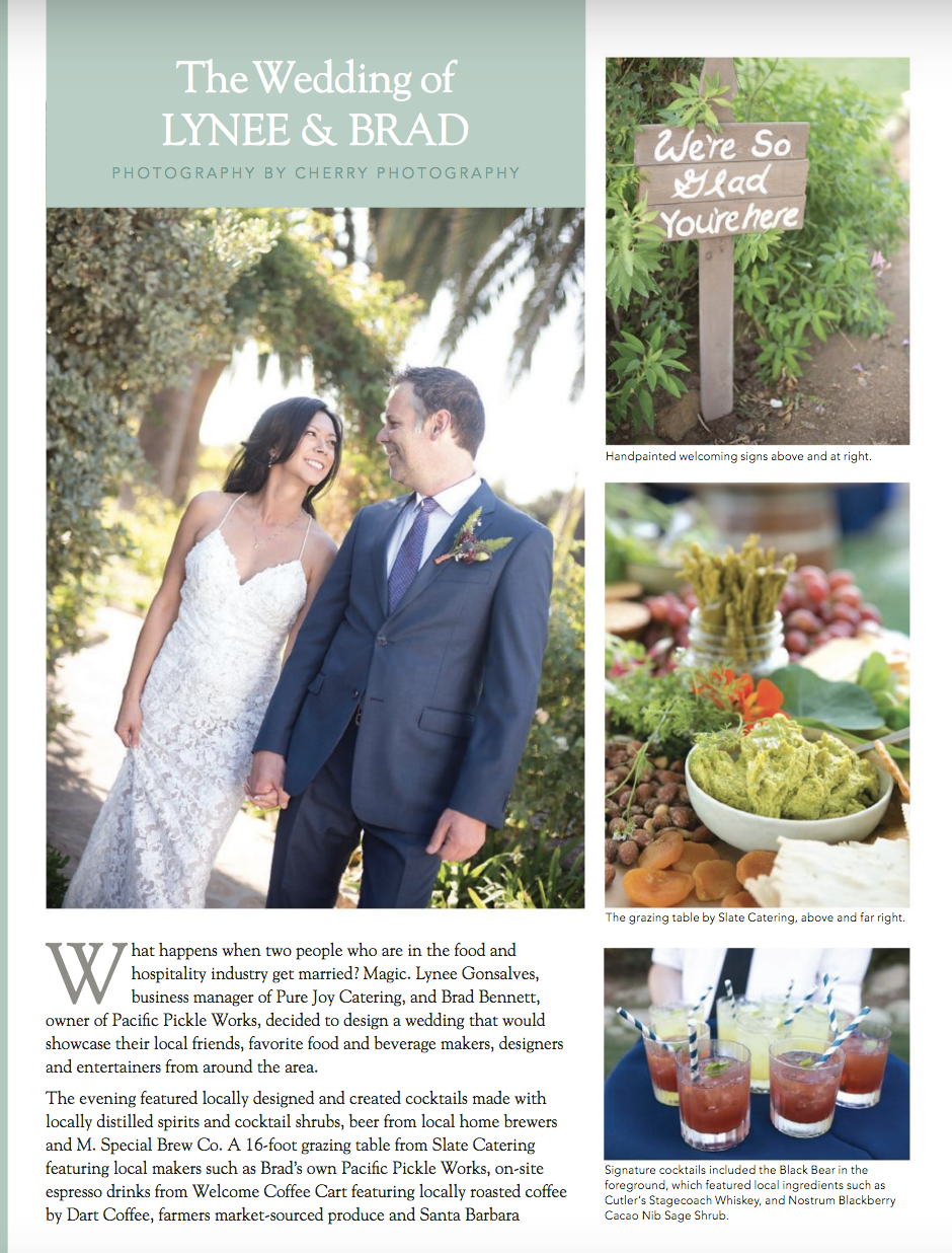 santa barbara wedding style | edible magazine | local food | local wine | By Cherry Photography | Wedding Photographer