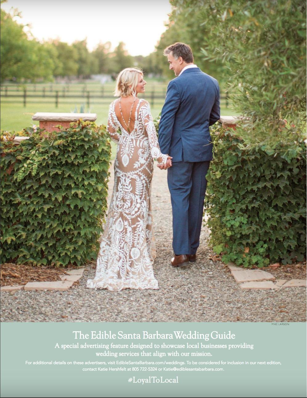 santa barbara wedding style | edible magazine | local food | local wine | Jill La Fleur | Wedding Planner