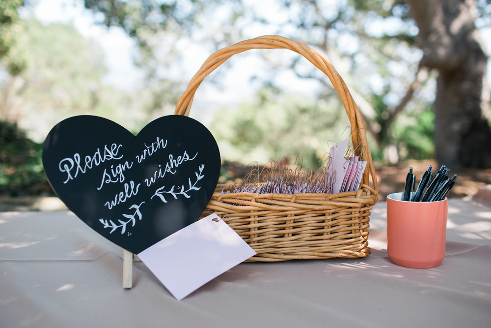 www.santabarbarawedding.com | Josh Newton | Elings Park | Burlap & Bordeaux | Guest Sign In