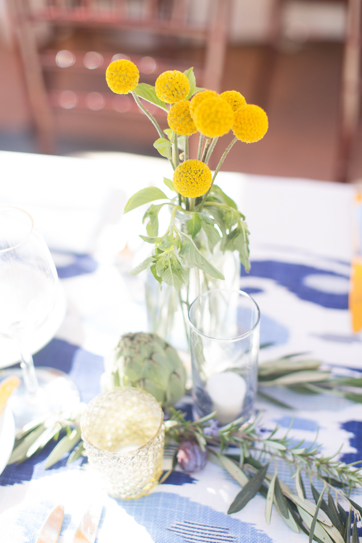 www.santabarbarawedding.com | Wonder Tribe | SB Historical Museum | Canary Hotel | Reception Table Floral Arrangement