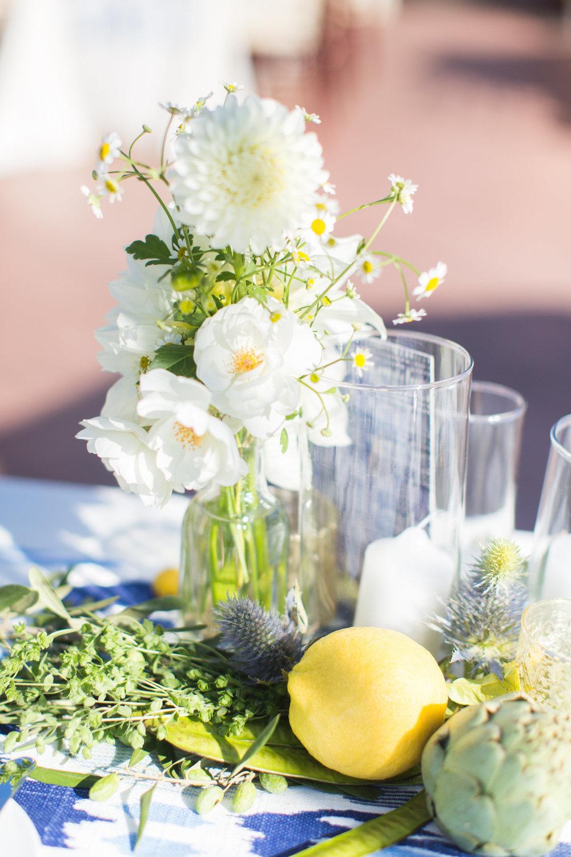 www.santabarbarawedding.com | Wonder Tribe | SB Historical Museum | Canary Hotel | Reception Table Flowers