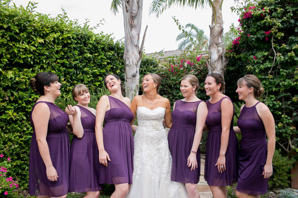 www.santabarbarawedding.com | Kelsey Crews | Felici Events | Alice Keck Park | Bridesmaids