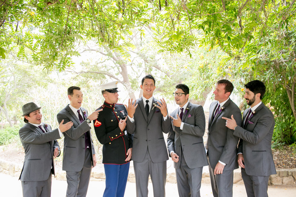 www.santabarbarawedding.com | Kelsey Crews | Felici Events | Alice Keck Park | Groomsmen