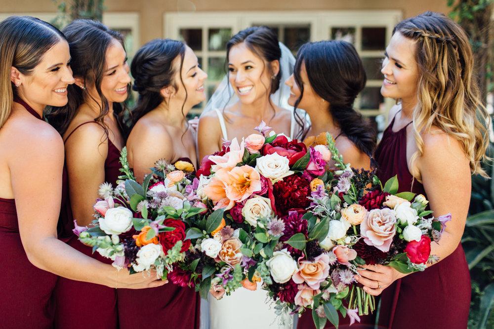 www.santabarbarawedding.com   Jihan Cerda   Villa Verano   Bridesmaids