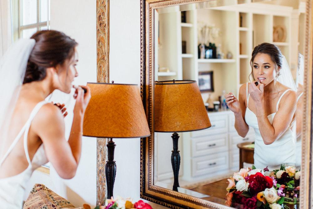 www.santabarbarawedding.com   Jihan Cerda   Villa Verano   Bride Getting Ready
