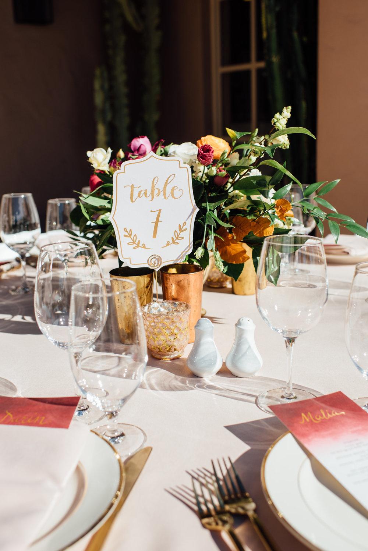 www.santabarbarawedding.com   Jihan Cerda   Villa Verano   Reception Table Number