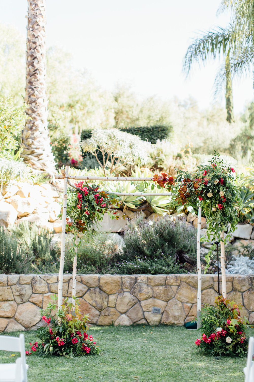 www.santabarbarawedding.com   Jihan Cerda   Villa Verano   Wedding Arch