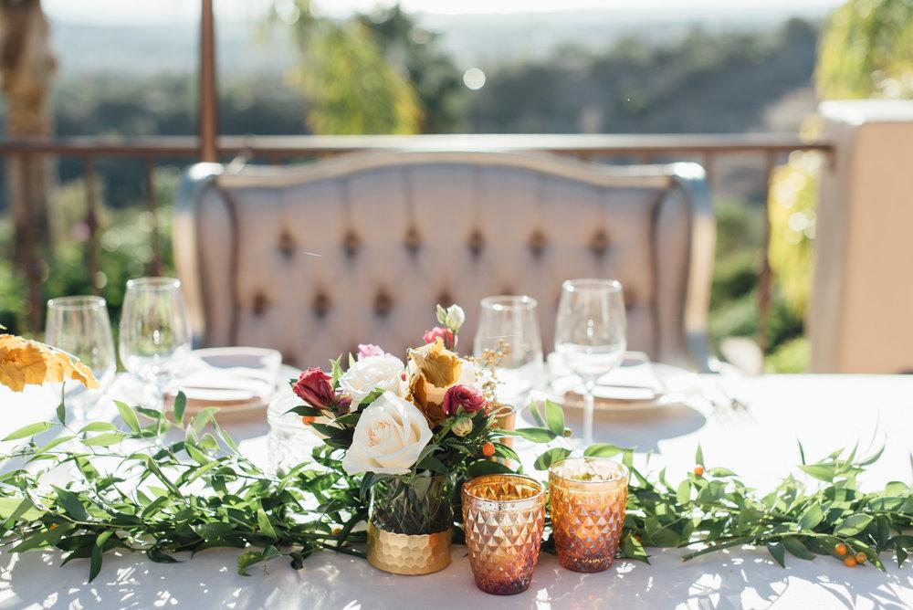 www.santabarbarawedding.com   Jihan Cerda   Villa Verano   Reception Head Table