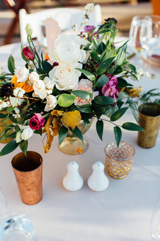 www.santabarbarawedding.com   Jihan Cerda   Villa Verano   Reception Table Details