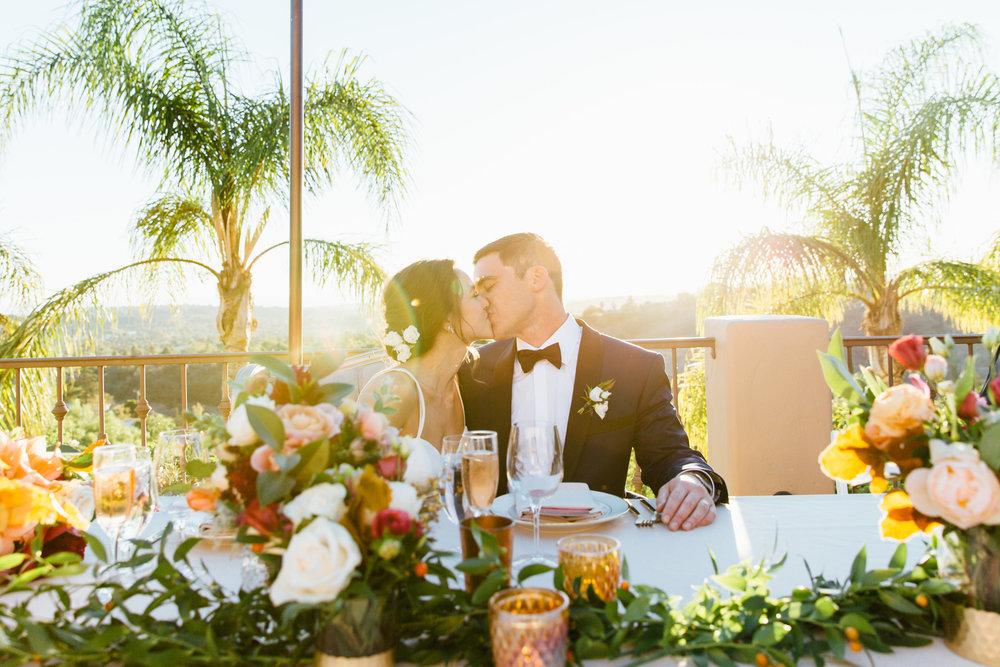www.santabarbarawedding.com   Jihan Cerda   Villa Verano   Bride and Groom   Reception