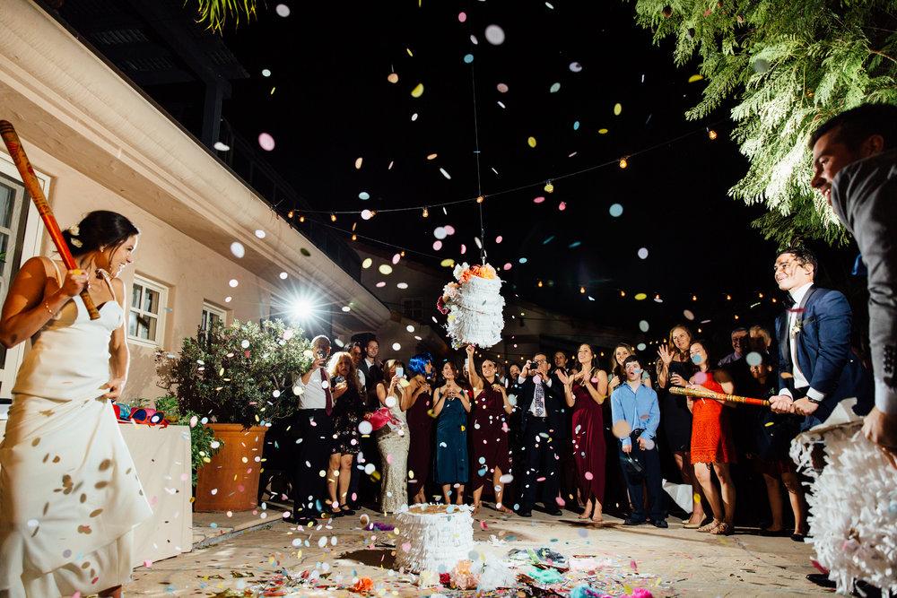 www.santabarbarawedding.com   Jihan Cerda   Villa Verano   Pinata Reception