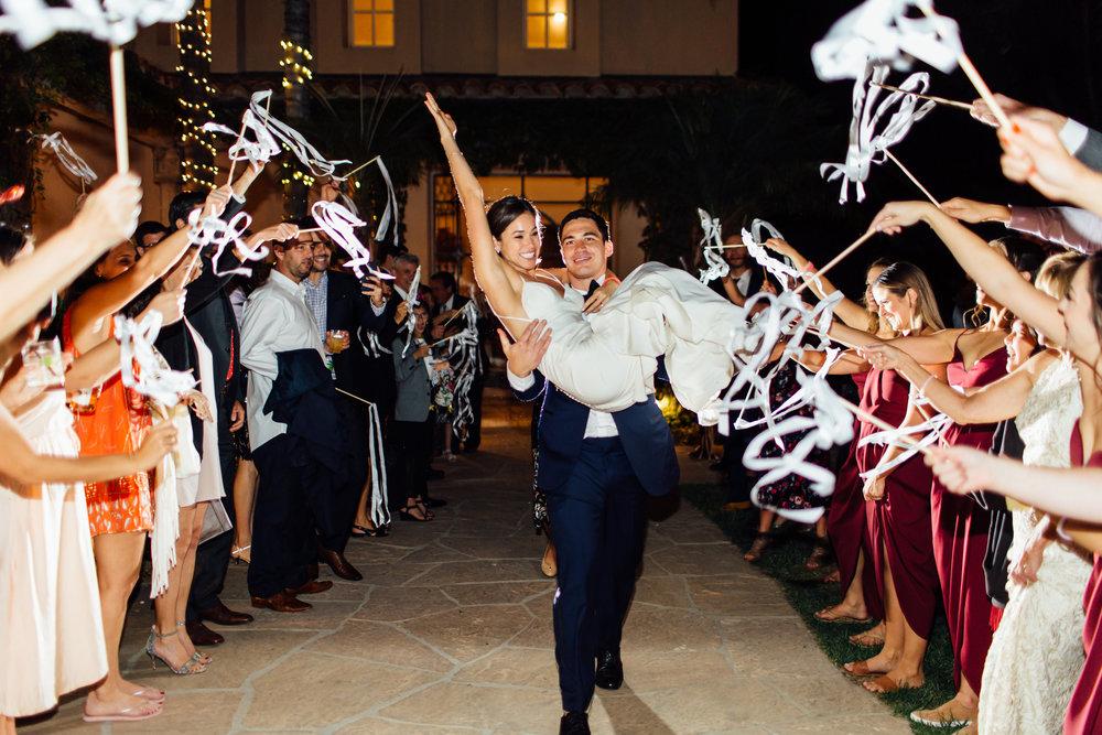 www.santabarbarawedding.com   Jihan Cerda   Villa Verano   Bride and Groom Send Off