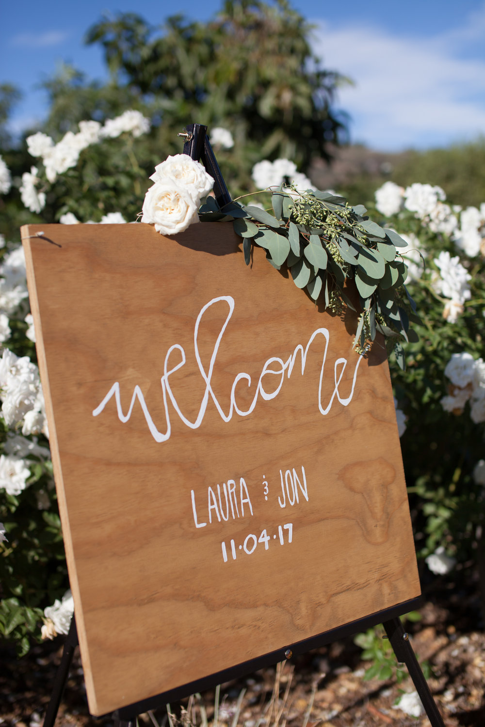 www.santabarbarawedding.com | Cameron Jordan Artistry | Gerry Ranch | Wedding Sign