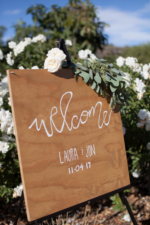 www.santabarbarawedding.com | Cameron Jordan Artistry | Gerry Ranch | Wedding Sign