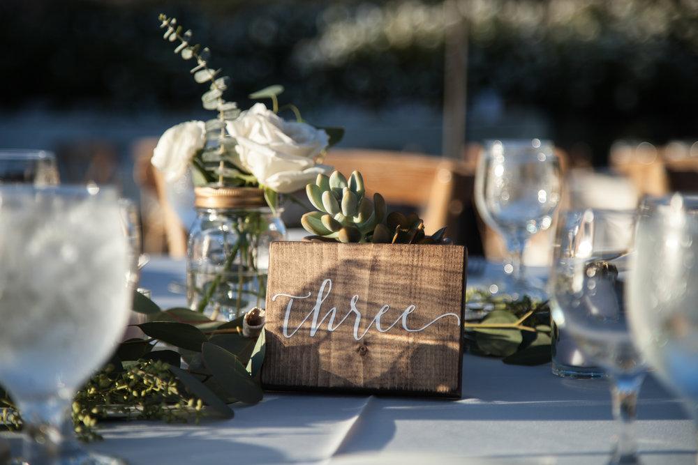 www.santabarbarawedding.com | Cameron Jordan Artistry | Gerry Ranch | Reception Table Numbers