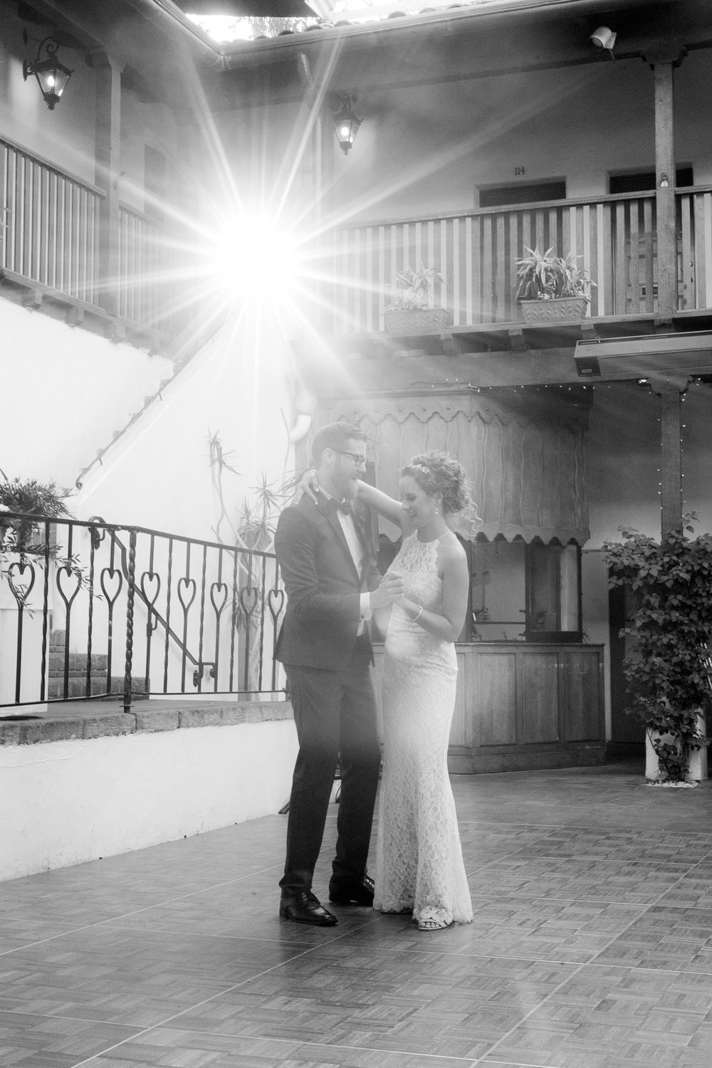 www.santabarbarawedding.com | Boone & Stacie Weddings | Santa Barbara Courthouse | El Paseo | Bride and Groom First Dance