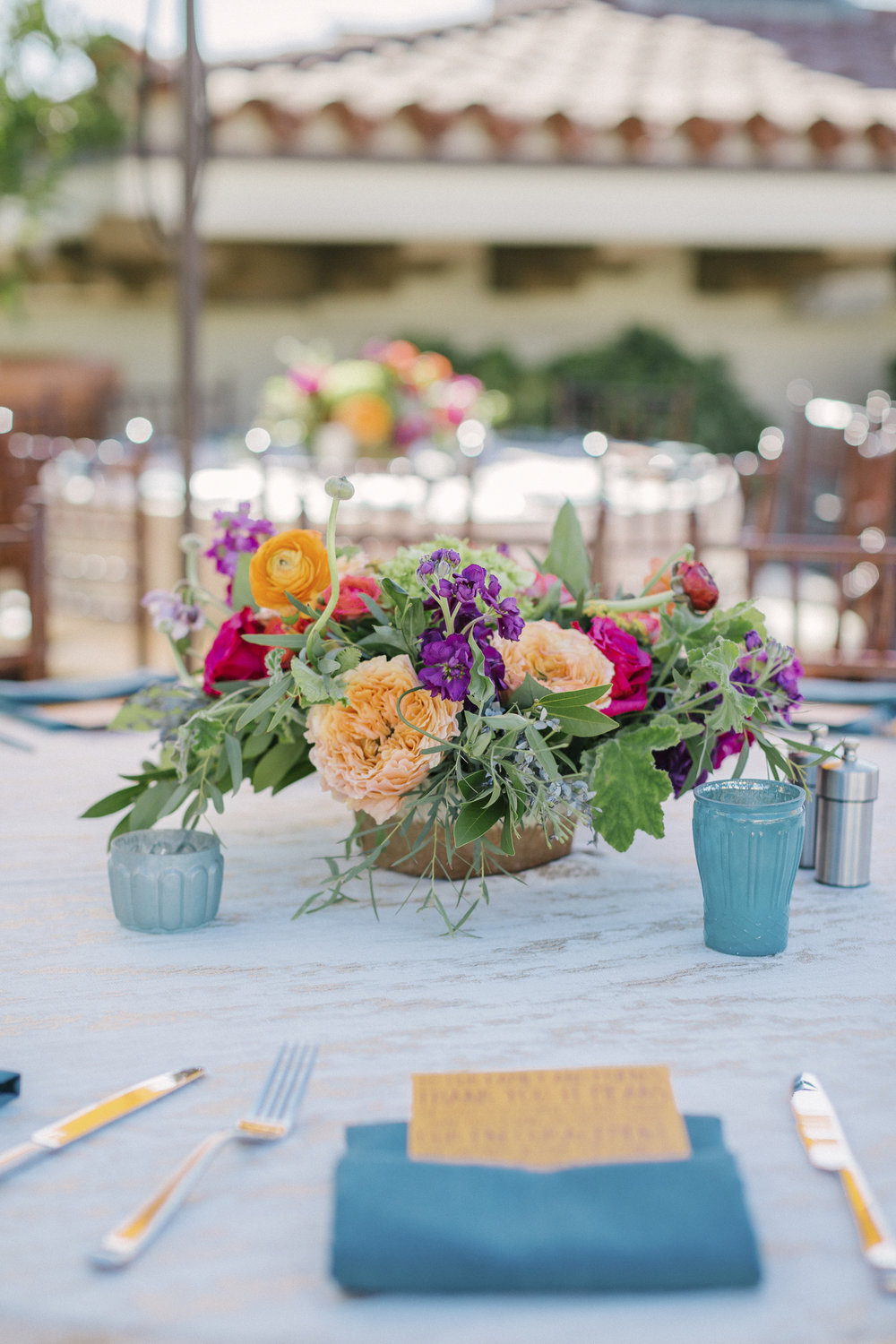 www.santabarbarawedding.com | Santa Barbara Courthouse | Canary Hotel | Aurelia D'Amore Photography | Reception Table Details