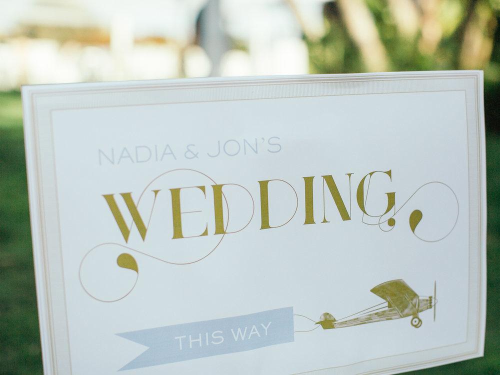 www.santabarbarawedding.com | Santa Barbara Zoo | Kiel Rucker | Rincon Catering | Wedding Sign