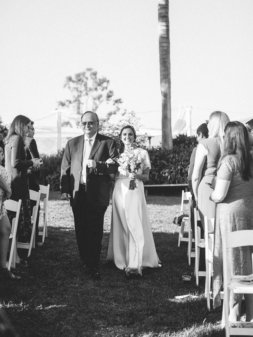 www.santabarbarawedding.com | Santa Barbara Zoo | Kiel Rucker | Rincon Catering | Bride and Father