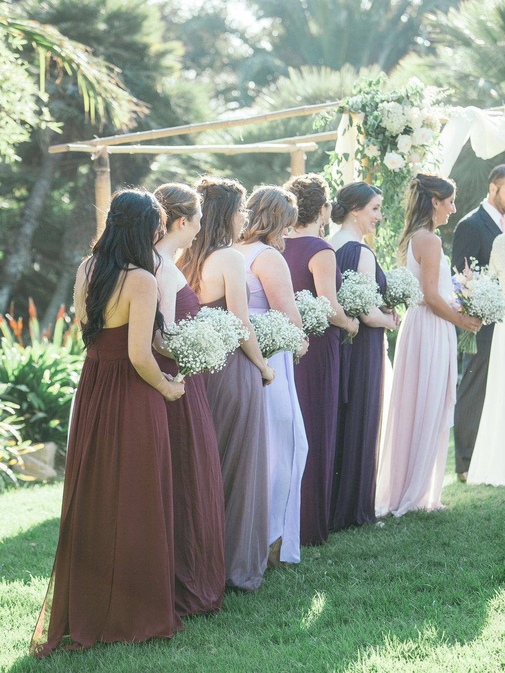 www.santabarbarawedding.com | Santa Barbara Zoo | Kiel Rucker | Rincon Catering | Bridesmaids