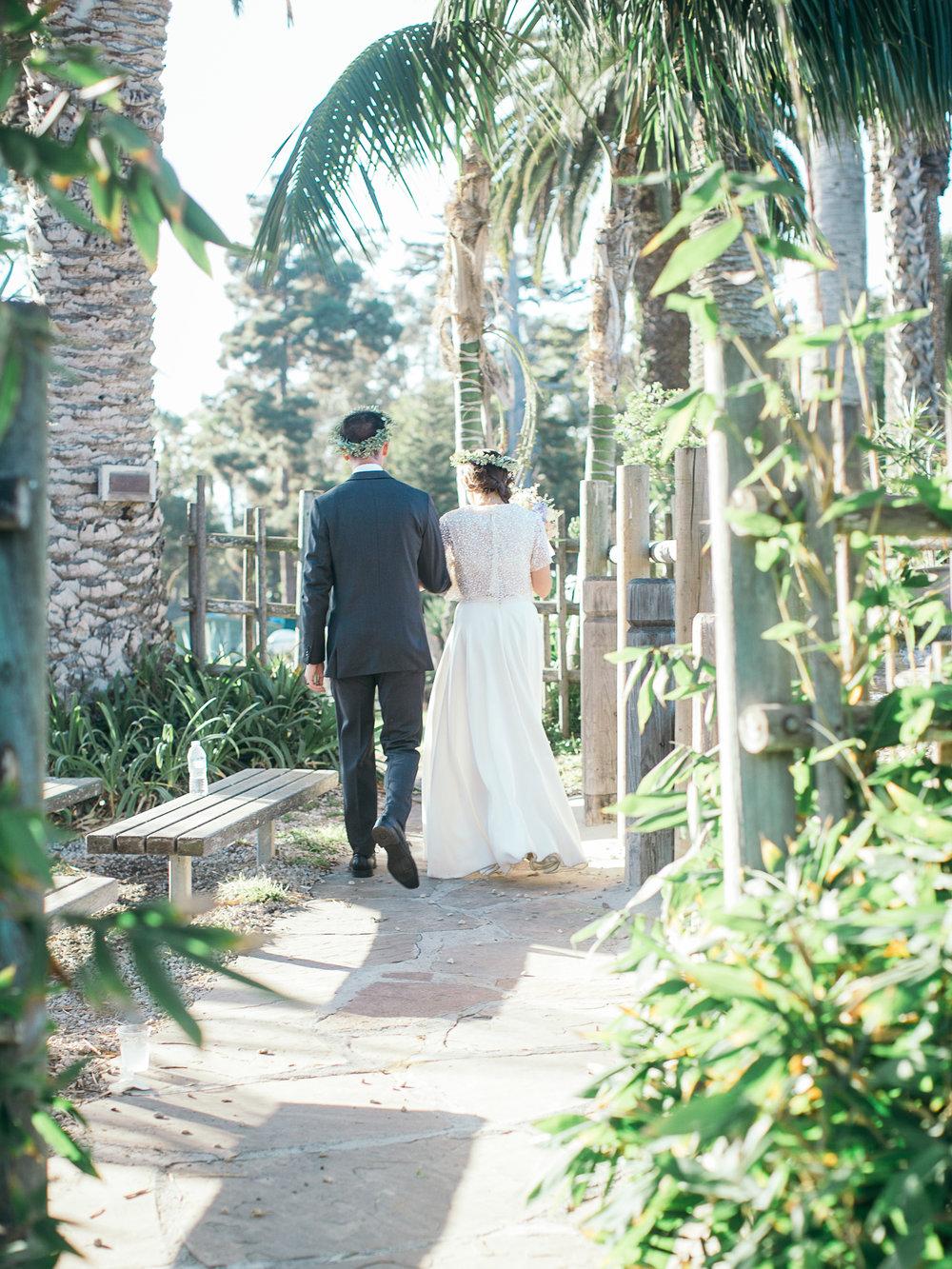www.santabarbarawedding.com | Santa Barbara Zoo | Kiel Rucker | Rincon Catering | Bride and Groom