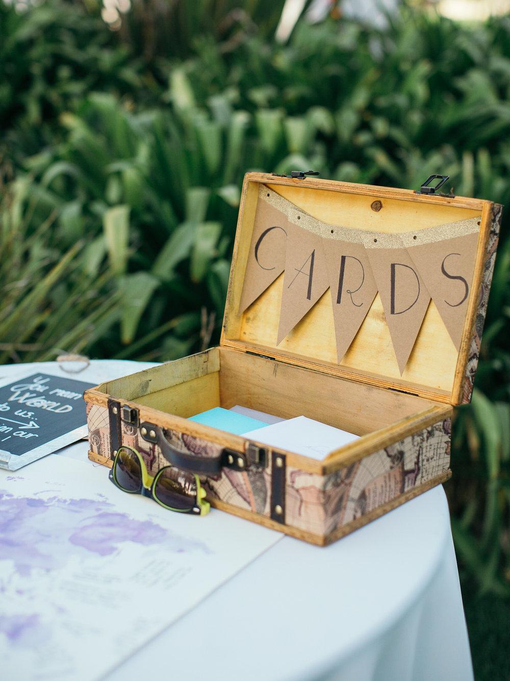 www.santabarbarawedding.com | Santa Barbara Zoo | Kiel Rucker | Rincon Catering | Card Box