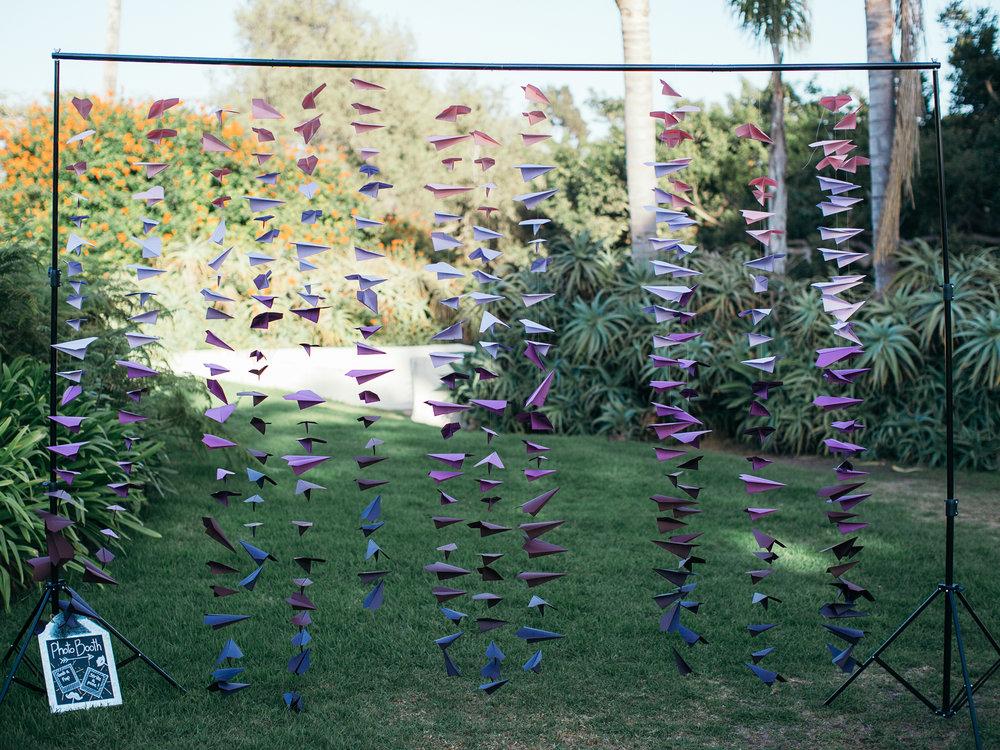 www.santabarbarawedding.com | Santa Barbara Zoo | Kiel Rucker | Rincon Catering | Paper Cranes