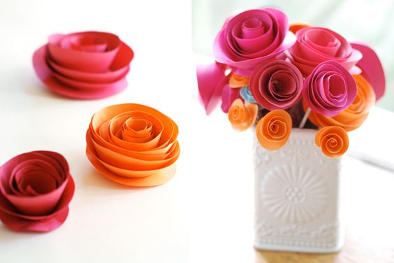 Three easy steps for diy paper flowers santa barbara wedding style three easy steps for diy paper flowers mightylinksfo