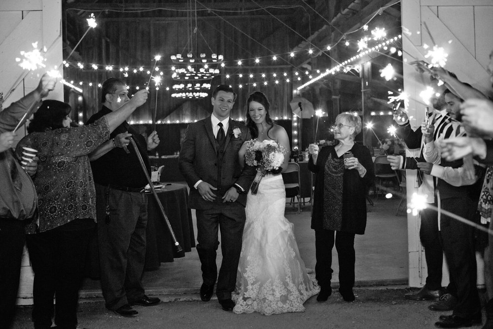 www.santabarbarawedding.com | Kay Mitchell Photography | Madonna Ranch | Sparkler Exit