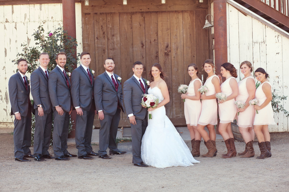 www.santabarbarawedding.com | Kay Mitchell Photography | Madonna Ranch | Bridal Party