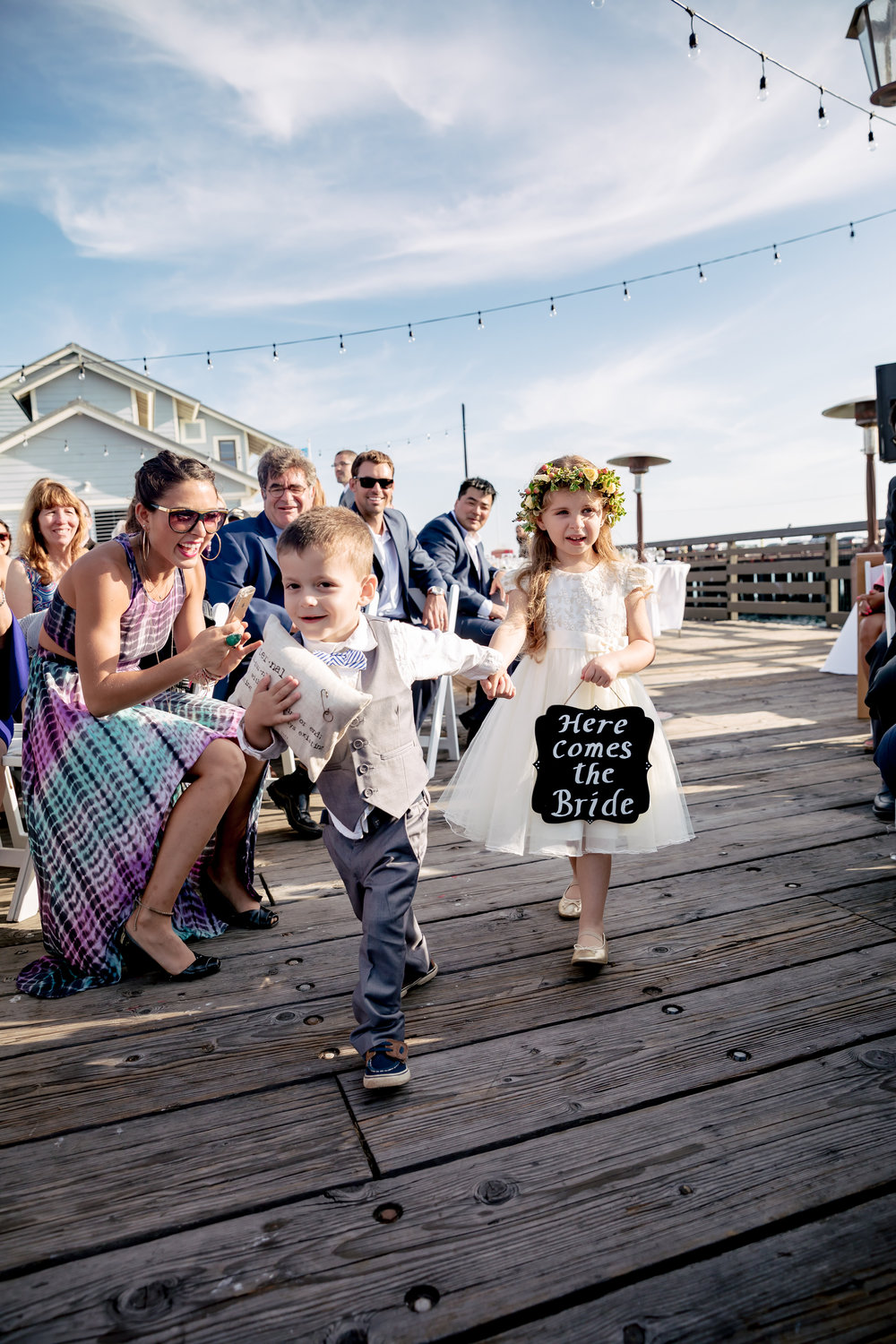 www.santabarbarawedding.com | Rewind Photography | Santa Barbara Sea Center | Events by Fran | Flower Girl and Ring Bearer