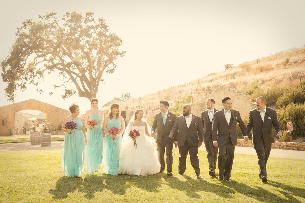 www.santabarbarawedding.com | Josh Goodman | Sunstone Winery | Bridal Party