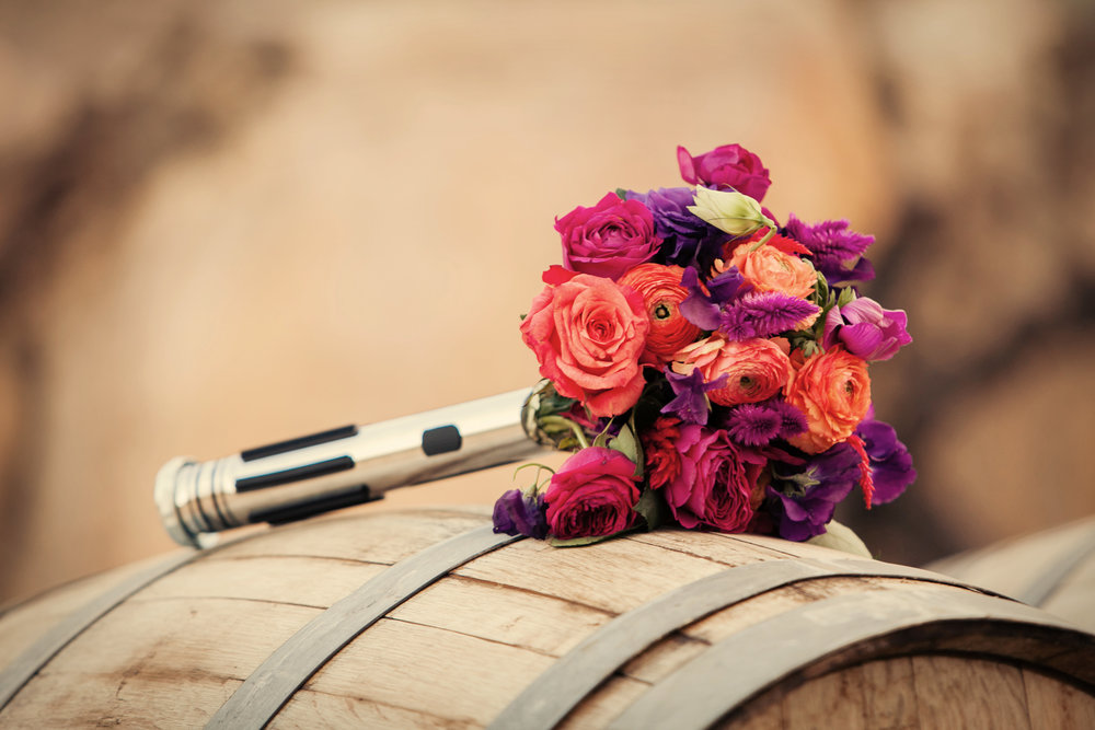 www.santabarbarawedding.com | Josh Goodman | Sunstone Winery | Bridal Bouquet