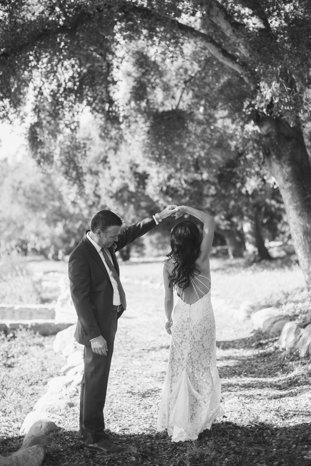 www.santabarbarawedding.com | ByCherry Photography | HeartStone Ranch | Bride and Groom | First Look