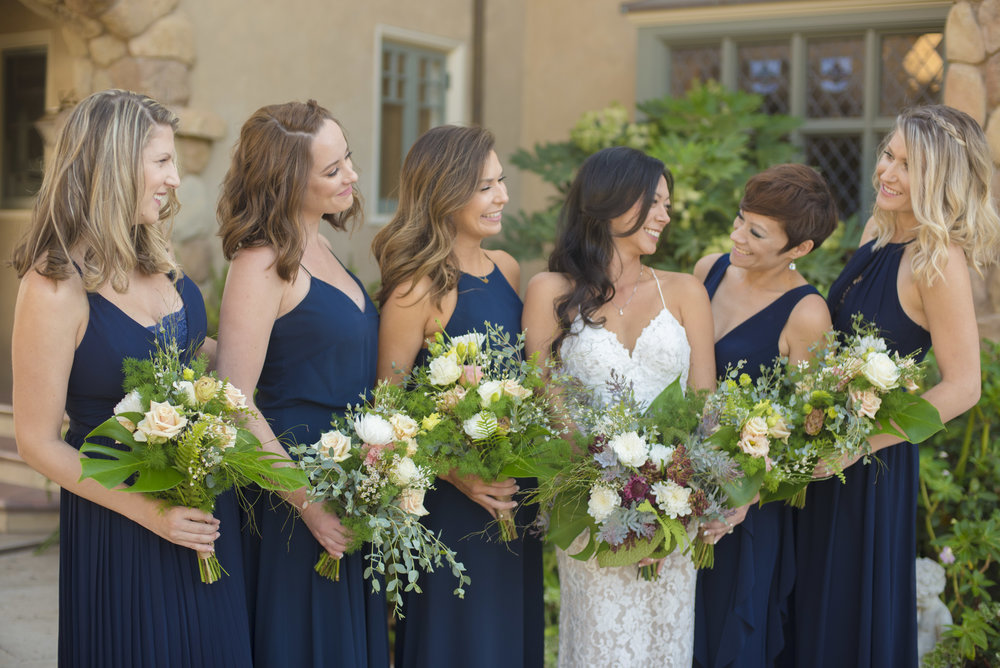 www.santabarbarawedding.com | ByCherry Photography | HeartStone Ranch | Bridesmaids