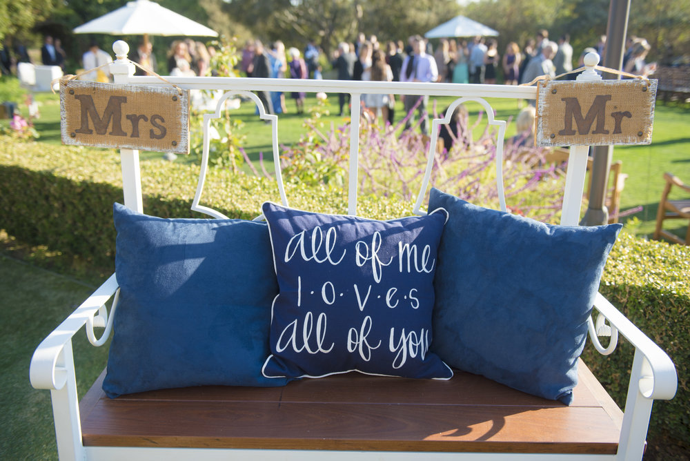 www.santabarbarawedding.com | ByCherry Photography | HeartStone Ranch | Bride and Groom's Seating
