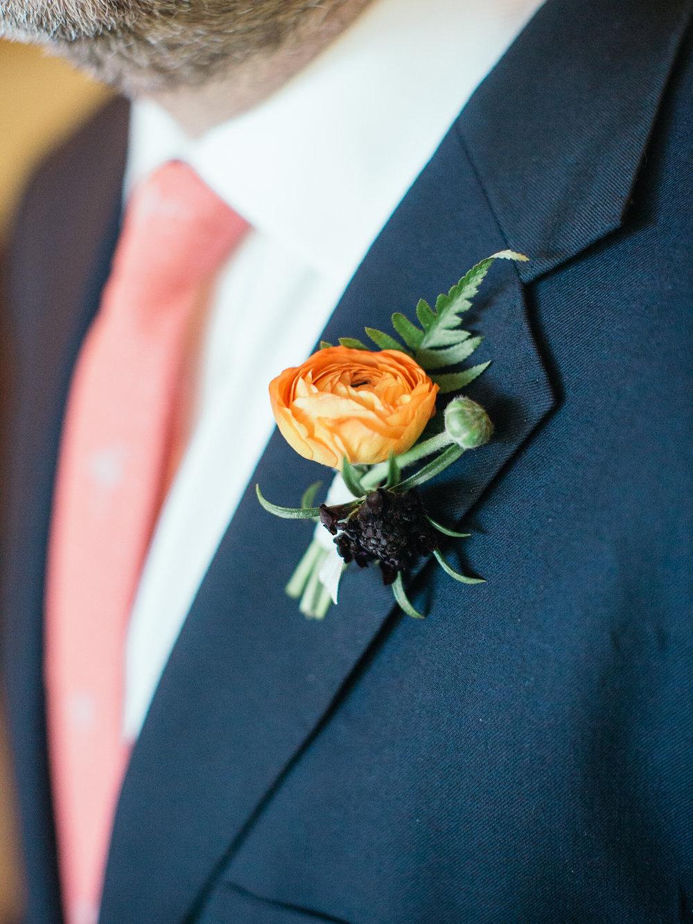 www.santabarbarawedding.com | Kiel Rucker | Riviera Mansion | Boutonniere