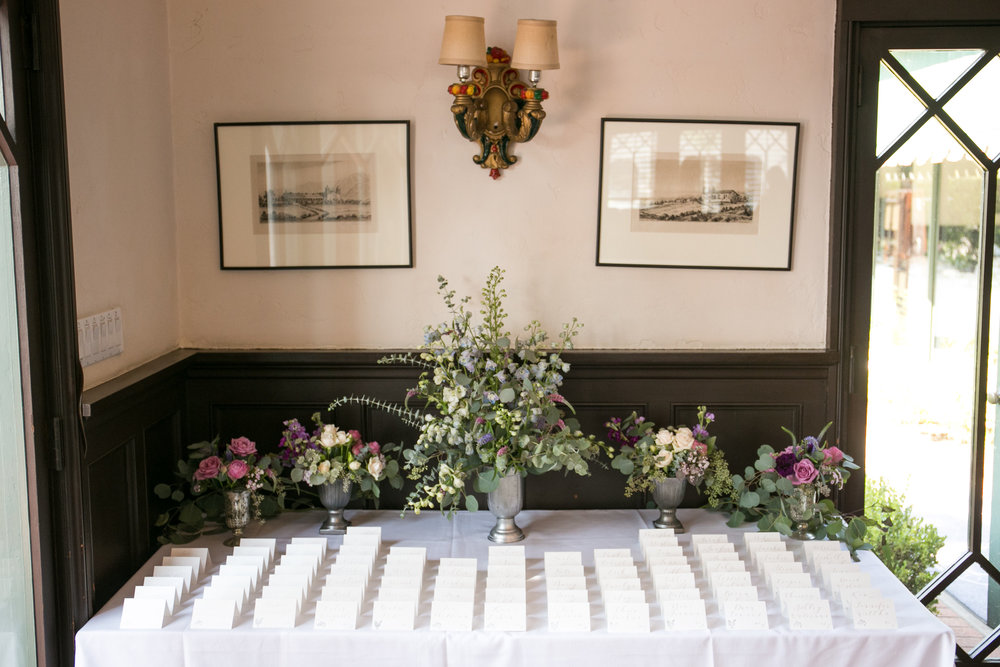 www.santabarbarawedding.com | Melissa Musgrove Photography | Margaret Joan Florals | Escort Cards