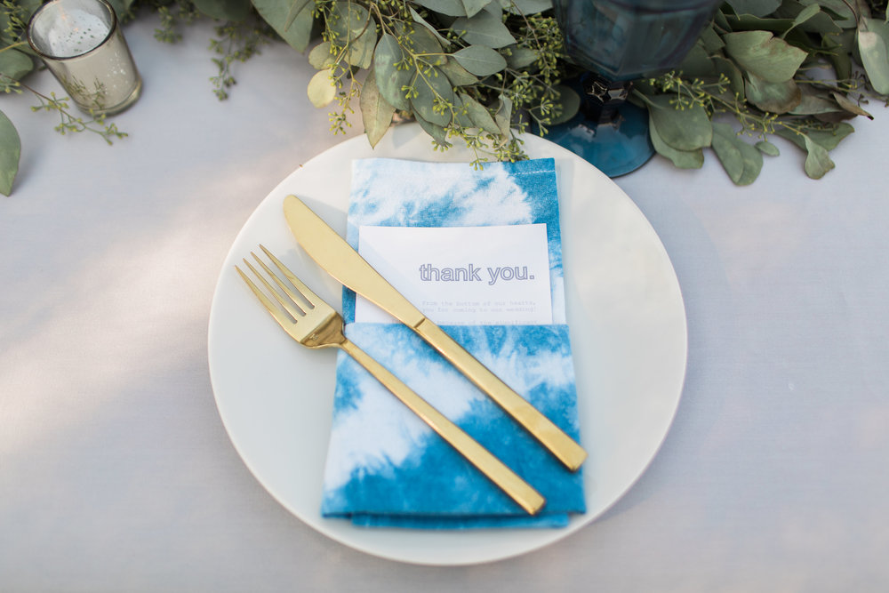 www.santabarbarawedding.com | Ann Johnson | Katie Shuler Photography | Ventura Botanical Gardens | Place Setting
